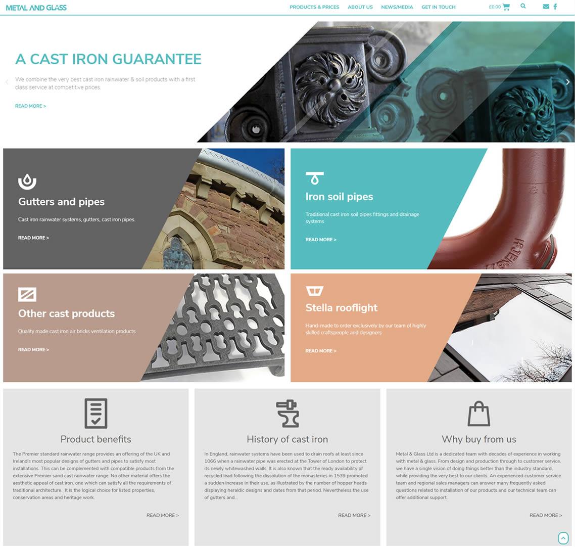 Metal and Glass Website Design