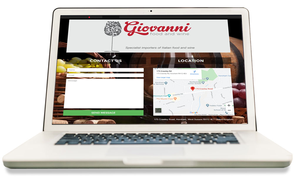 Giovanni Food & Wine Laptop